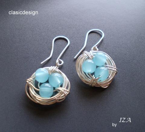 cercei -pietre semipretioase-blue opal