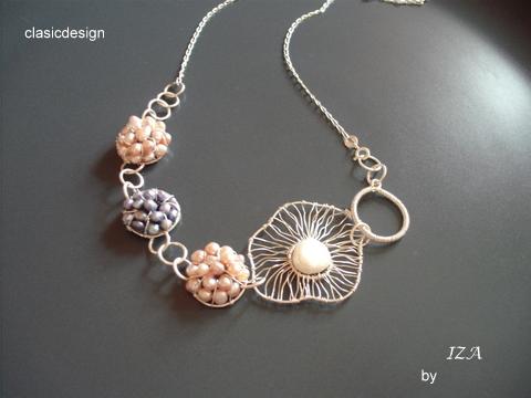 bijuterii perle-clasicdesign-lilac pink