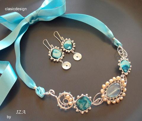 bijuterii-colier-cercei-sidef-turcoaz-perle