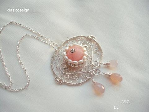 colier argint-perle-jad