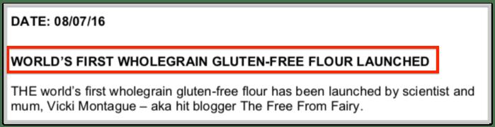 headline for press release example