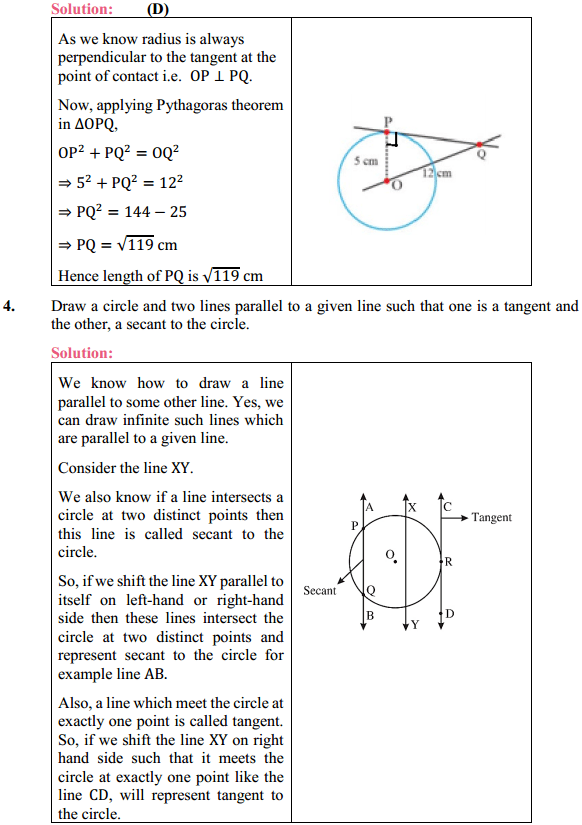 NCERT Solutions for Class 10 Maths Chapter 10 Circles Ex 10.1 2