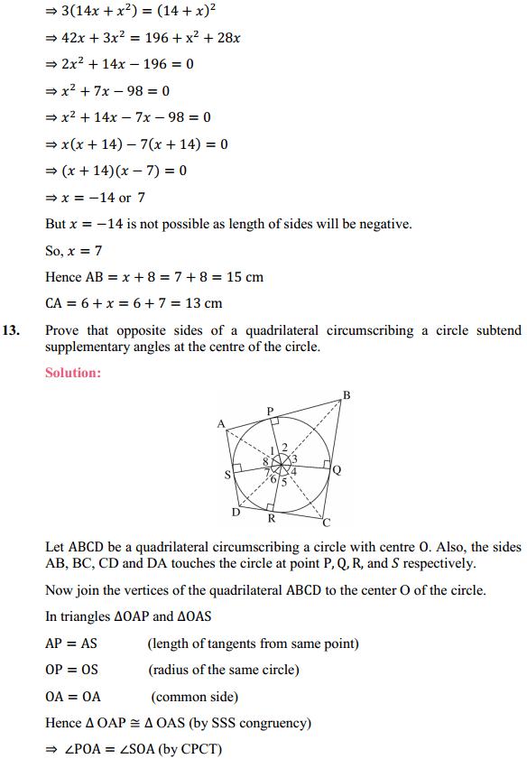 NCERT Solutions for Class 10 Maths Chapter 10 Circles Ex 10.2 11