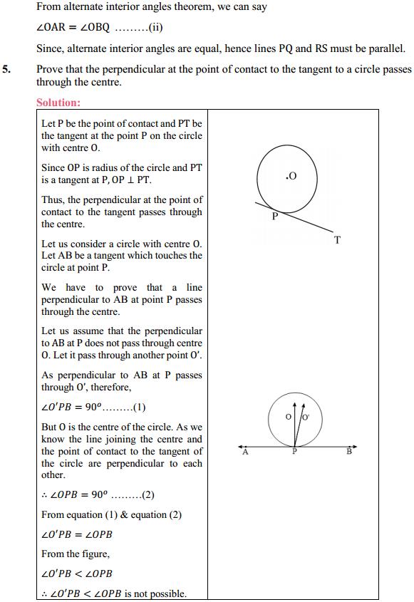 NCERT Solutions for Class 10 Maths Chapter 10 Circles Ex 10.2 4