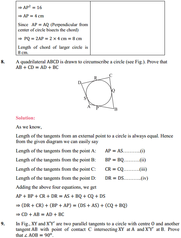 NCERT Solutions for Class 10 Maths Chapter 10 Circles Ex 10.2 6