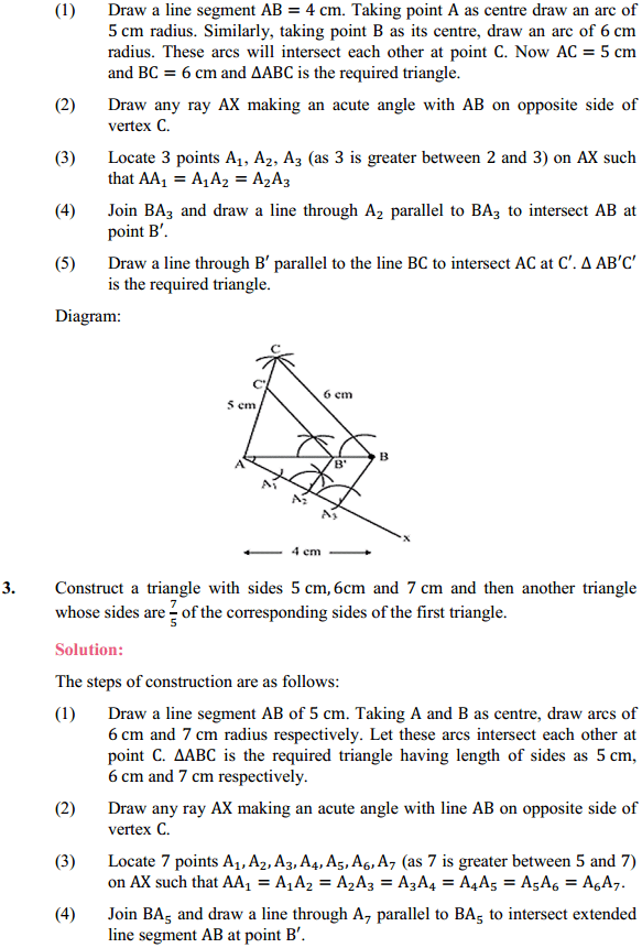 NCERT Solutions for Class 10 Maths Chapter 11 Constructions Ex 11.1 2