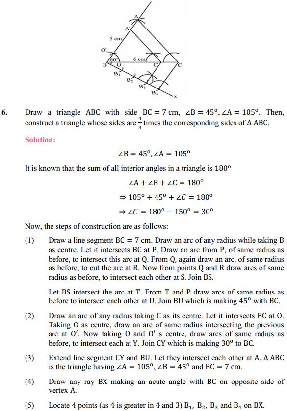 NCERT Solutions for Class 10 Maths Chapter 11 Constructions Ex 11.1 5