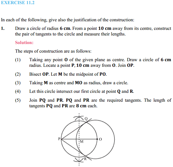 NCERT Solutions for Class 10 Maths Chapter 11 Constructions Ex 11.2 1