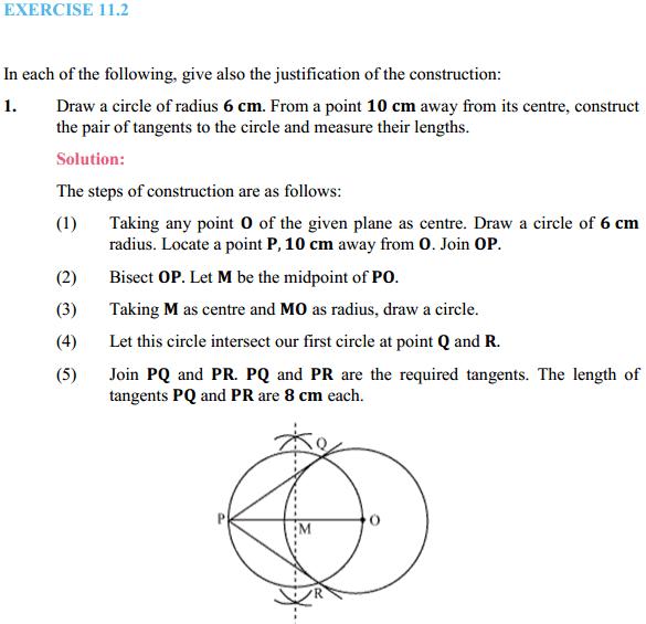 NCERT Solutions for Class 10 Maths Chapter 11 Constructions Ex 11.2 1