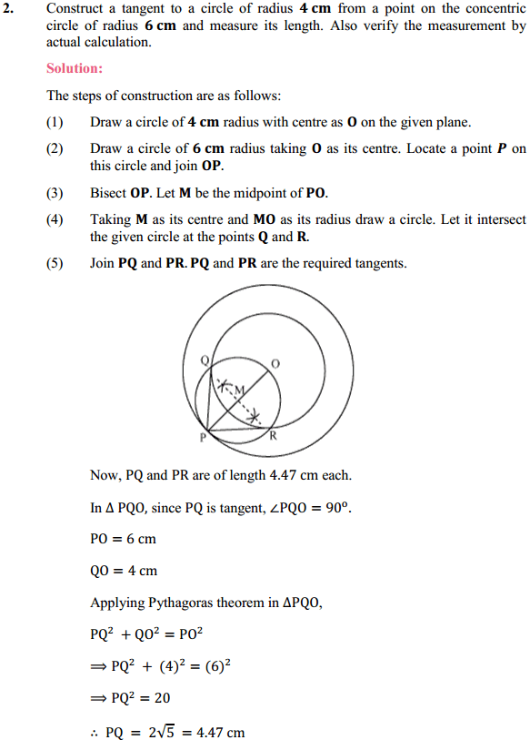 NCERT Solutions for Class 10 Maths Chapter 11 Constructions Ex 11.2 2