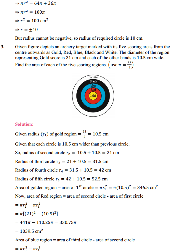 NCERT Solutions for Class 10 Maths Chapter 12 Areas Related to Circles Ex 12.1 2