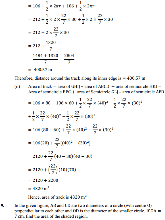 NCERT Solutions for Class 10 Maths Chapter 12 Areas Related to Circles Ex 12.3 10