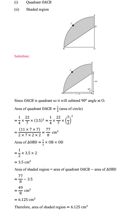 NCERT Solutions for Class 10 Maths Chapter 12 Areas Related to Circles Ex 12.3 14