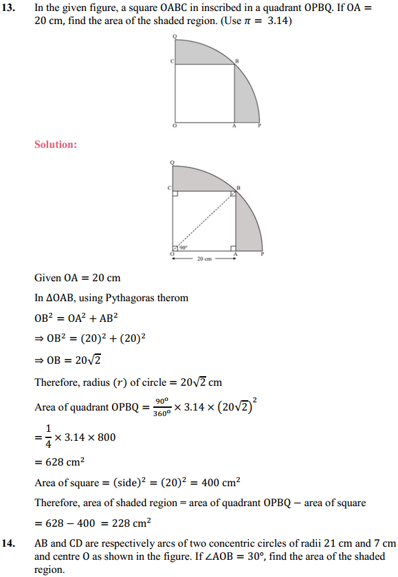 NCERT Solutions for Class 10 Maths Chapter 12 Areas Related to Circles Ex 12.3 15