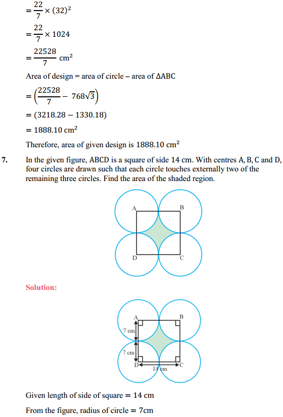 NCERT Solutions for Class 10 Maths Chapter 12 Areas Related to Circles Ex 12.3 8