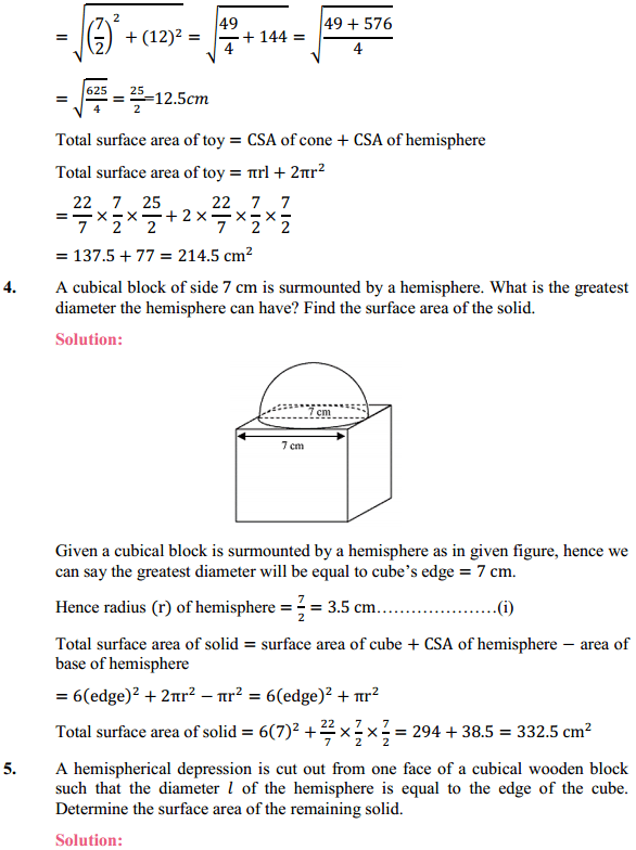 NCERT Solutions for Class 10 Maths Chapter 13 Surface Areas and Volumes Ex 13.1 3