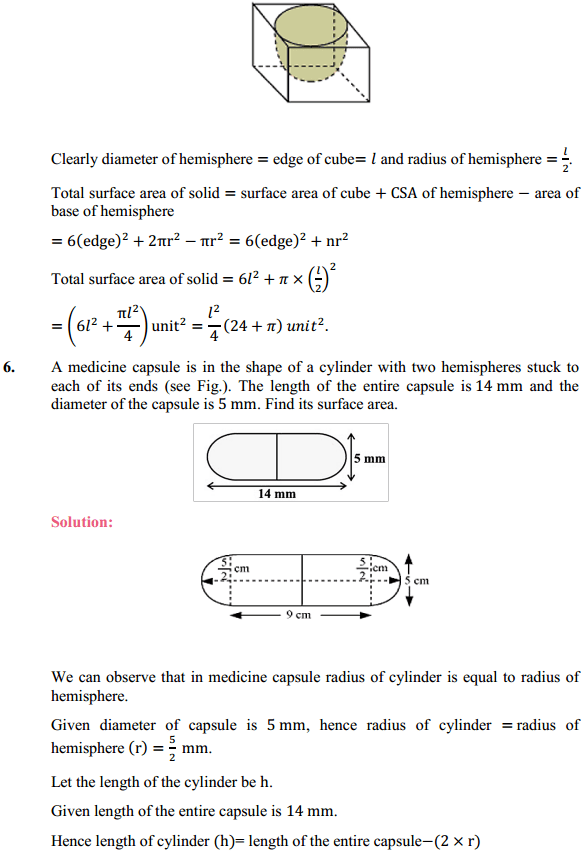 NCERT Solutions for Class 10 Maths Chapter 13 Surface Areas and Volumes Ex 13.1 4