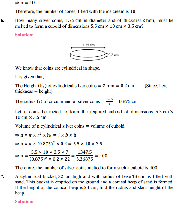 NCERT Solutions for Class 10 Maths Chapter 13 Surface Areas and Volumes Ex 13.3 6