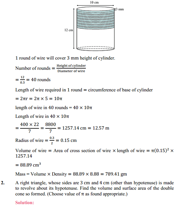NCERT Solutions for Class 10 Maths Chapter 13 Surface Areas and Volumes Ex 13.5 2