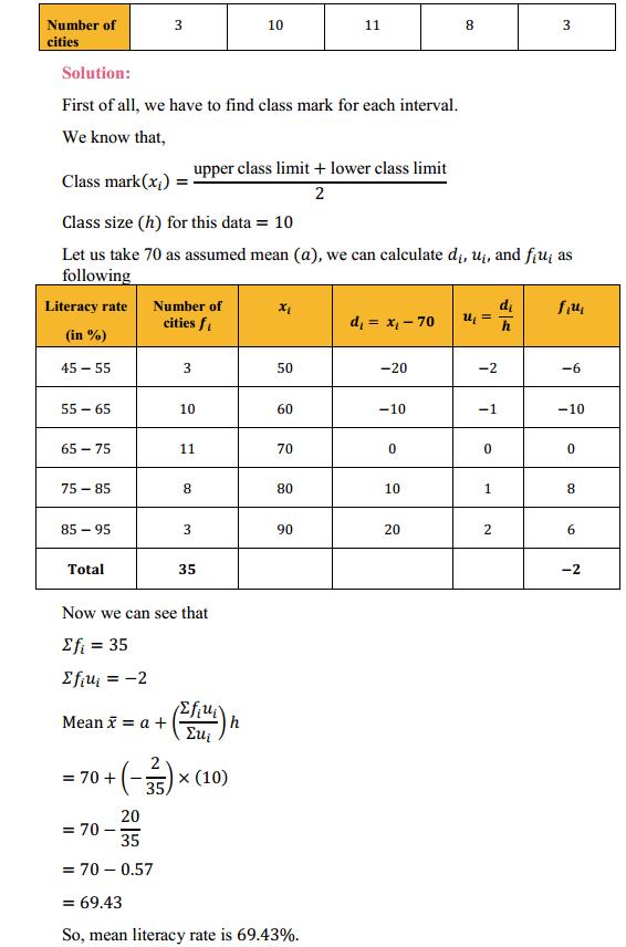 NCERT Solutions for Class 10 Maths Chapter 14 Statistics Ex 14.1 11