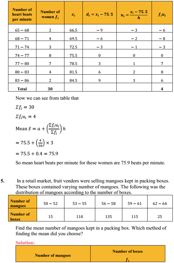 NCERT Solutions for Class 10 Maths Chapter 14 Statistics Ex 14.1 5