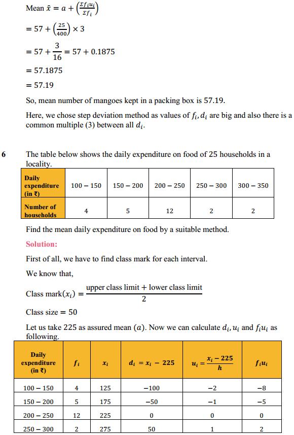 NCERT Solutions for Class 10 Maths Chapter 14 Statistics Ex 14.1 7