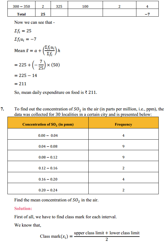 NCERT Solutions for Class 10 Maths Chapter 14 Statistics Ex 14.1 8
