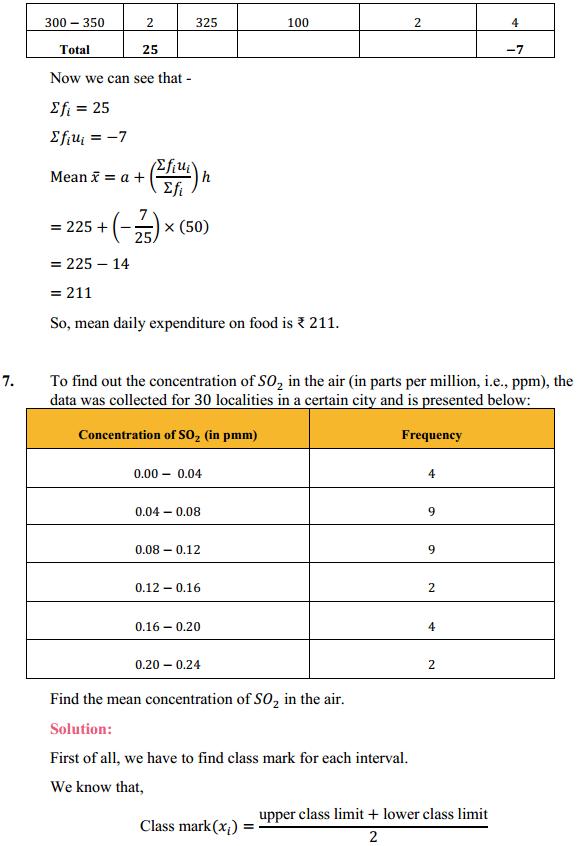 NCERT Solutions for Class 10 Maths Chapter 14 Statistics Ex 14.1 8