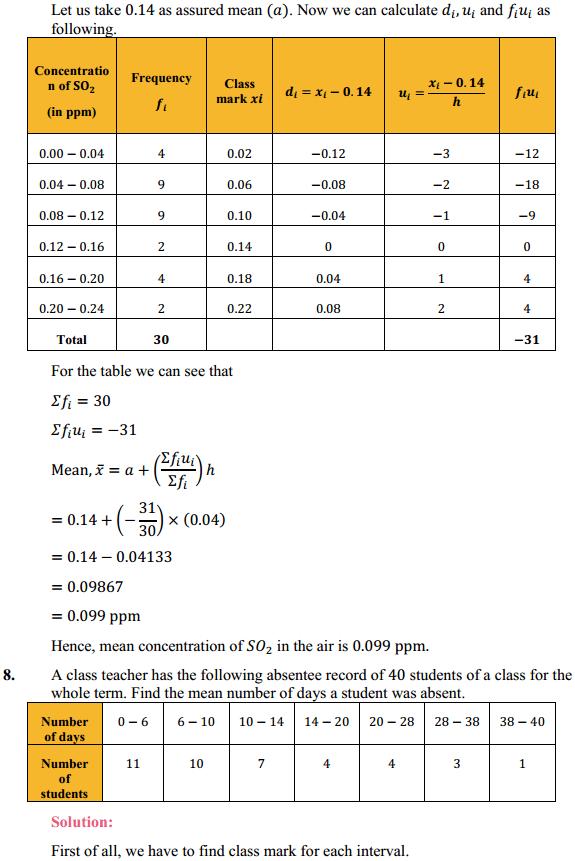 NCERT Solutions for Class 10 Maths Chapter 14 Statistics Ex 14.1 9