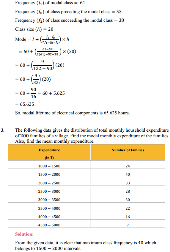 NCERT Solutions for Class 10 Maths Chapter 14 Statistics Ex 14.2 3