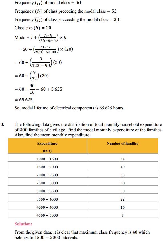 NCERT Solutions for Class 10 Maths Chapter 14 Statistics Ex 14.2 3