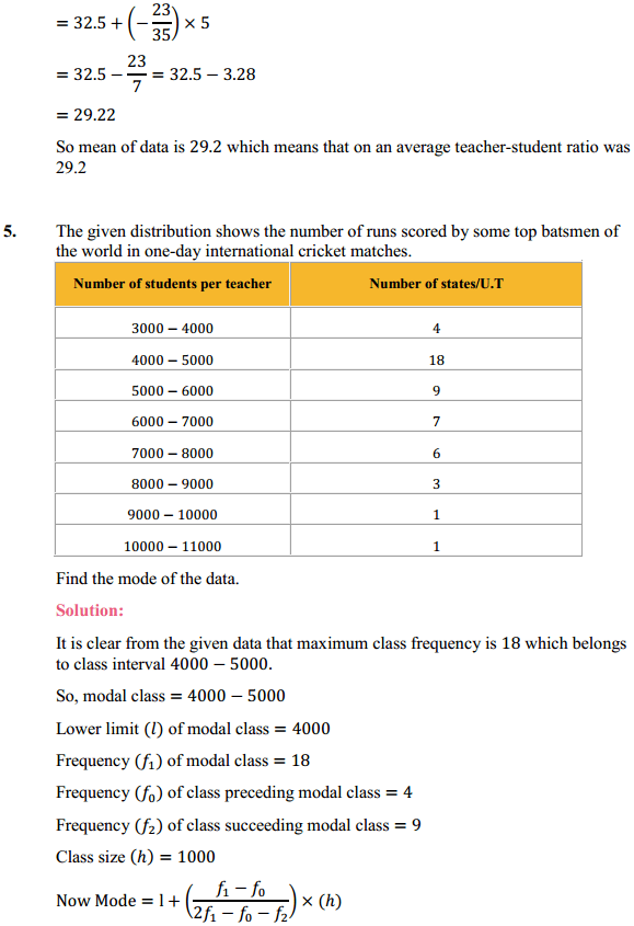 NCERT Solutions for Class 10 Maths Chapter 14 Statistics Ex 14.2 7