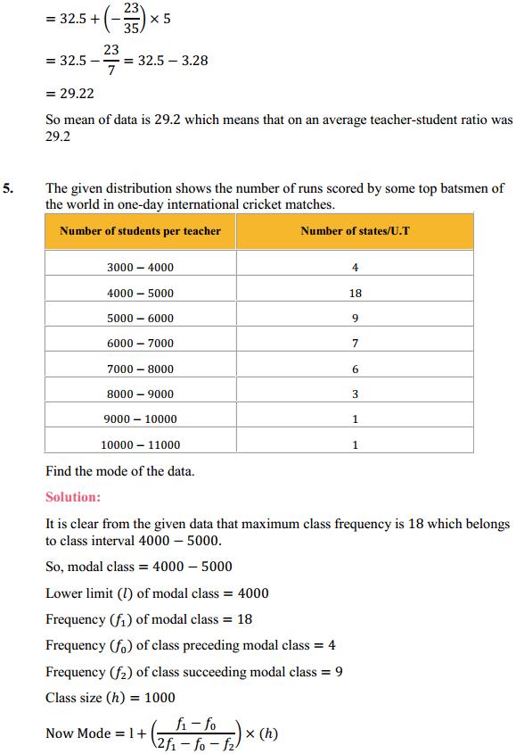 NCERT Solutions for Class 10 Maths Chapter 14 Statistics Ex 14.2 7