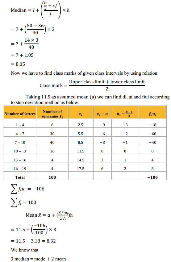 NCERT Solutions for Class 10 Maths Chapter 14 Statistics Ex 14.3 10