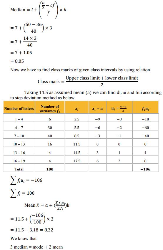 NCERT Solutions for Class 10 Maths Chapter 14 Statistics Ex 14.3 10