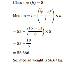 NCERT Solutions for Class 10 Maths Chapter 14 Statistics Ex 14.3 12
