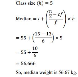 NCERT Solutions for Class 10 Maths Chapter 14 Statistics Ex 14.3 12