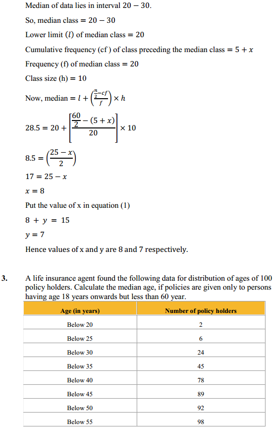 NCERT Solutions for Class 10 Maths Chapter 14 Statistics Ex 14.3 4