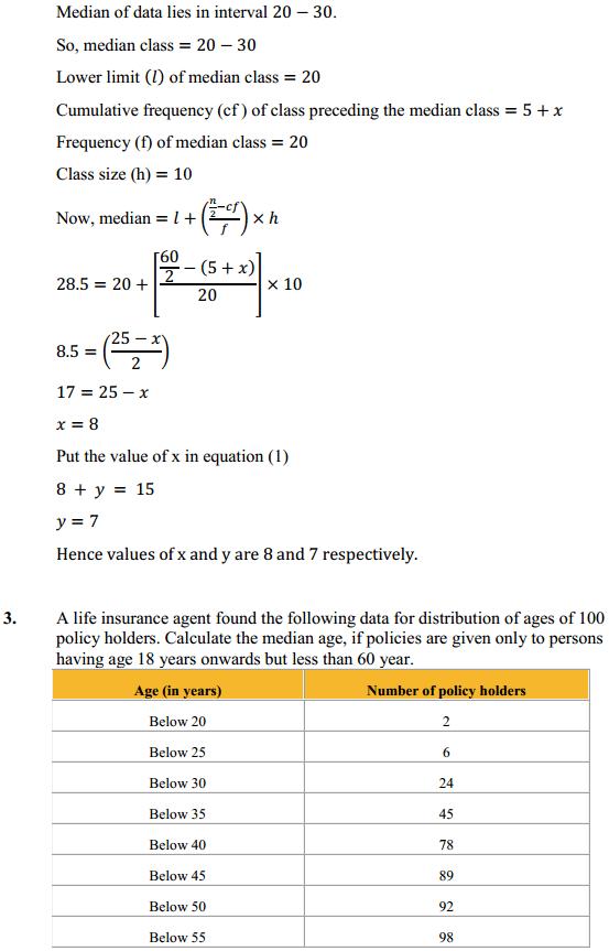 NCERT Solutions for Class 10 Maths Chapter 14 Statistics Ex 14.3 4