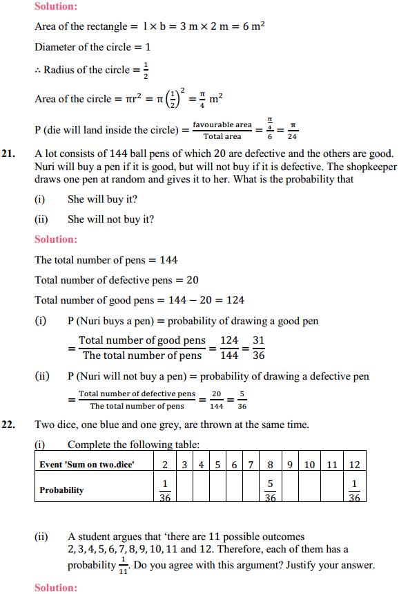 NCERT Solutions for Class 10 Maths Chapter 15 Probability Ex 15.1 10