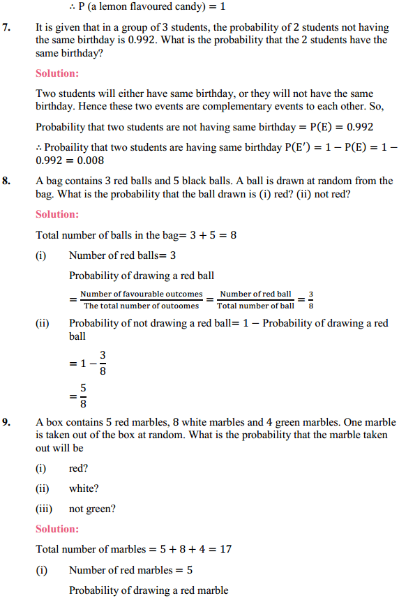 NCERT Solutions for Class 10 Maths Chapter 15 Probability Ex 15.1 3
