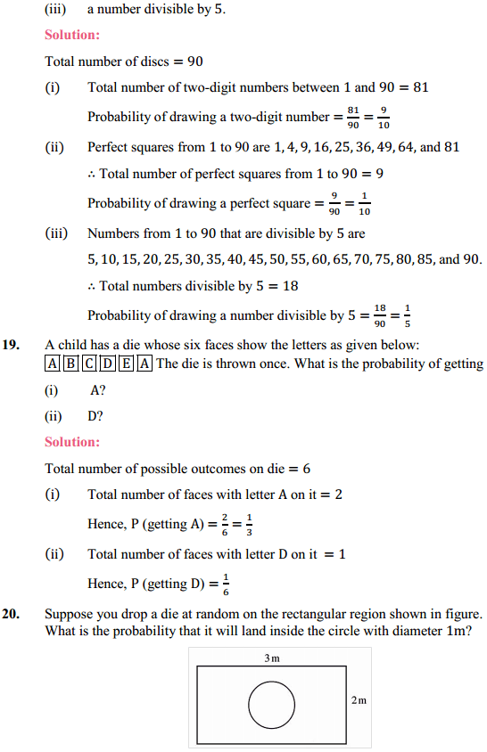 NCERT Solutions for Class 10 Maths Chapter 15 Probability Ex 15.1 9