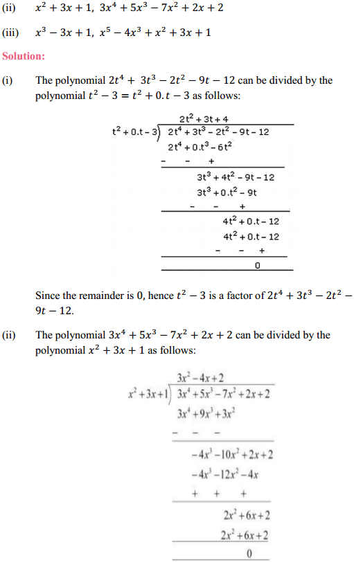 NCERT Solutions for Class 10 Maths Chapter 2 Polynomials Ex 2.3 3
