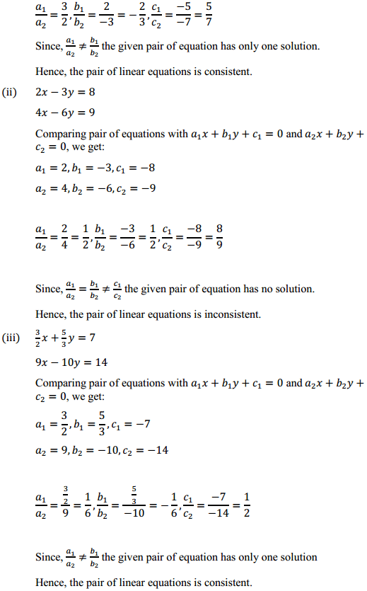 NCERT Solutions for Class 10 Maths Chapter 3 Pair of Linear Equations in Two Variables Ex 3.2 6