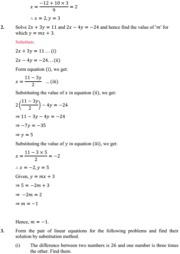 NCERT Solutions for Class 10 Maths Chapter 3 Pair of Linear Equations in Two Variables Ex 3.3 5