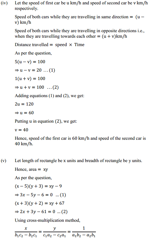 NCERT Solutions for Class 10 Maths Chapter 3 Pair of Linear Equations in Two Variables Ex 3.5 9