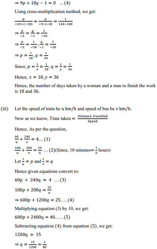 NCERT Solutions for Class 10 Maths Chapter 3 Pair of Linear Equations in Two Variables Ex 3.6 10