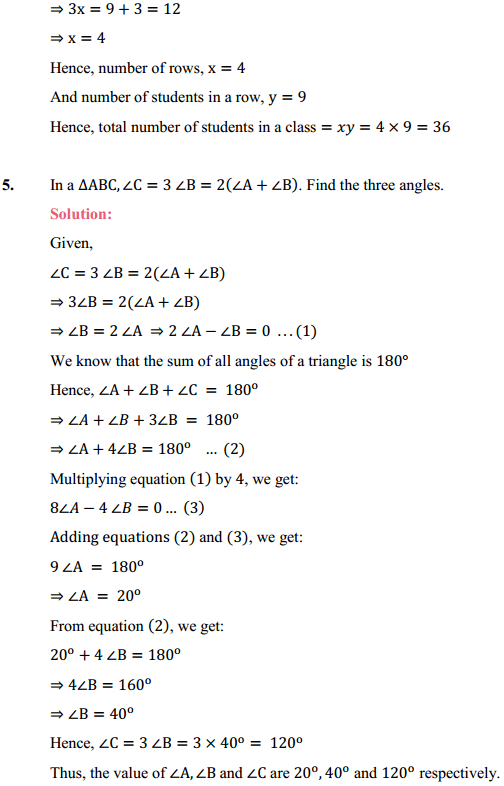 NCERT Solutions for Class 10 Maths Chapter 3 Pair of Linear Equations in Two Variables Ex 3.7 5