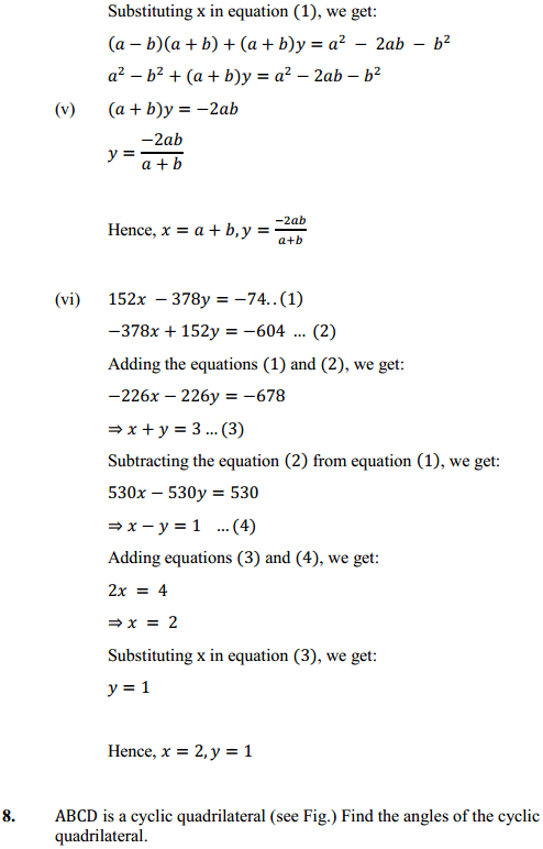 NCERT Solutions for Class 10 Maths Chapter 3 Pair of Linear Equations in Two Variables Ex 3.7 9