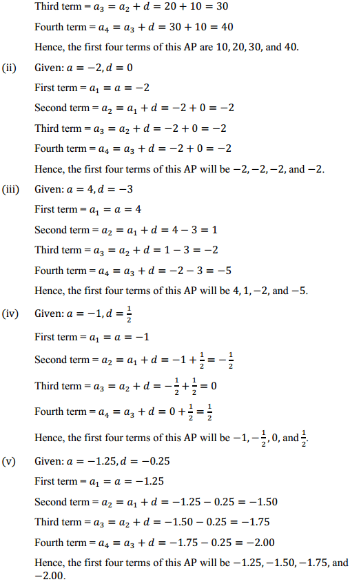NCERT Solutions for Class 10 Maths Chapter 5 Arithmetic Progressions Ex 5.1 3
